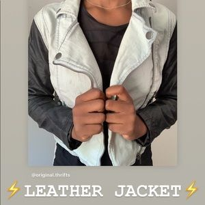 SUPER CUTE EDGY LEATHER JACKET